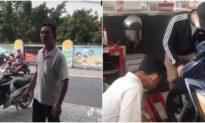 Hai con đưa cha đi mua xe máy, người cha xúc động lặng lẽ 'khóc một mình không cho con biết'