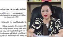Doanh nhân Nguyễn Phương Hằng cam kết không livestream xúc phạm người khác