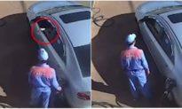 Tài xế ôtô vứt tiền xuống đất sau khi đổ xăng, nhân viên cây xăng vẫn cư xử rất lịch sự