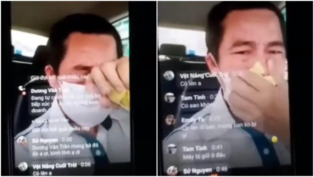 Tài xế taxi bật khóc, tự cách ly 18 tiếng trên xe sau khi chở hành khách bị sốt