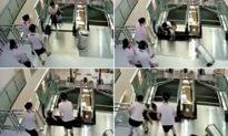 Mẹ hy sinh mạng sống cứu con khỏi bị thang cuốn 'nuốt chửng'