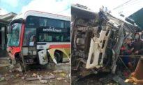 Tai nạn liên hoàn tại Đắk Lắk: Ít nhất 6 người thương vong