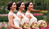 'Ai là cô dâu của tôi vậy?' - Đám cưới của chị em 'sinh ba' khiến chú rể 'bối rối' tìm cô dâu