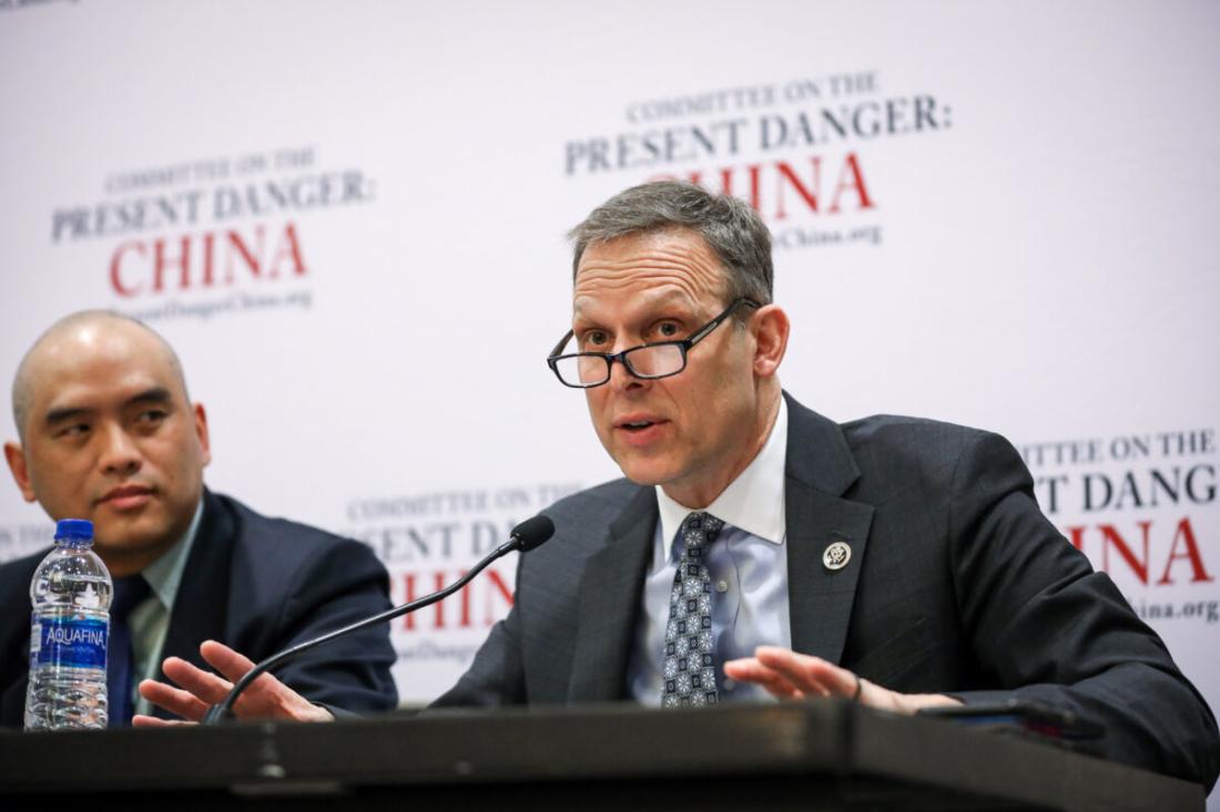 """Hạ nghị sĩ Cộng hòa Scott Perry (Pennsylvania) phát biểu tại một hội thảo có tiêu đề """"Mối nguy hiểm hiện tại: Trung Quốc"""" tại Hội nghị Hành động Chính trị Cánh hữu (CPAC) ở National Harbour, Maryland, vào ngày 27/2/2020. (Samira Bouaou / The Epoch Times)"""