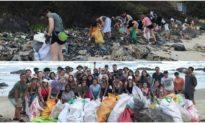 'Thử thách dọn rác': Hình ảnh trước và sau thật đáng kinh ngạc