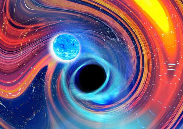 Lần đầu tiên quan sát được hố đen nuốt chửng sao neutron