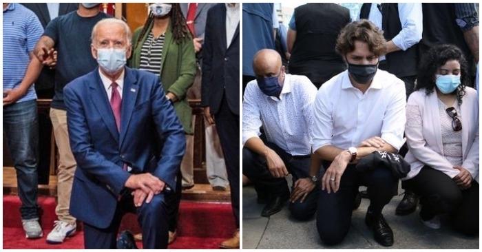 Ông Biden lại quỳ gối trước nữ Chánh văn phòng của Tổng thống Israel tại Nhà Trắng