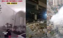 Thiên tai nhân họa ầm ầm giáng xuống Trung Quốc ngay trước ngày đại lễ 100 năm