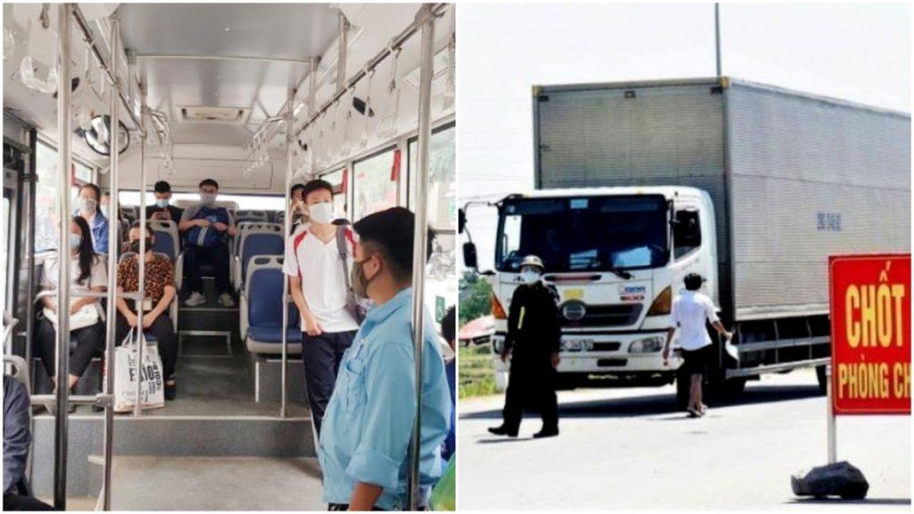 Hà Nội: Xe buýt không quá 20 người, xe chở hàng chỉ giao tại nơi đăng ký