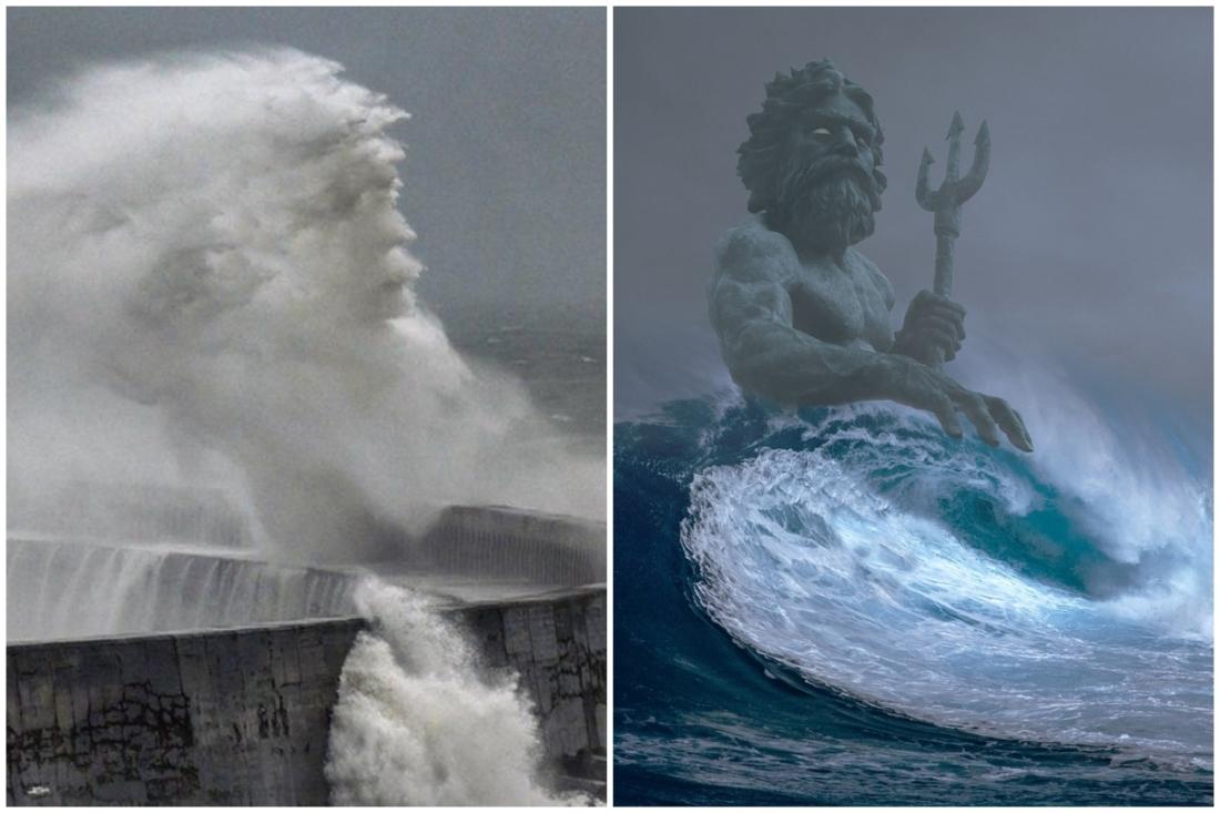 'Khuôn mặt Hải vương' xuất hiện trên sóng biển nước Anh