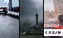 Bão In-Fa đổ bộ, bầu trời Thượng Hải tối sầm như 'ngày tận thế'