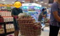 Giữa mùa dịch khan hiếm: Thực hư chuyện người đàn ông mua một xe trứng đầy trong siêu thị