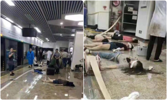 Ảnh chụp màn hình các nạn nhân tại tàu điện ngầm Trịnh Châu.