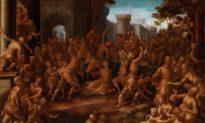 """Bức tranh """"Ném đá Thánh Stephen"""" của họa sĩ thời Phục hưng Aurelio Lomi"""