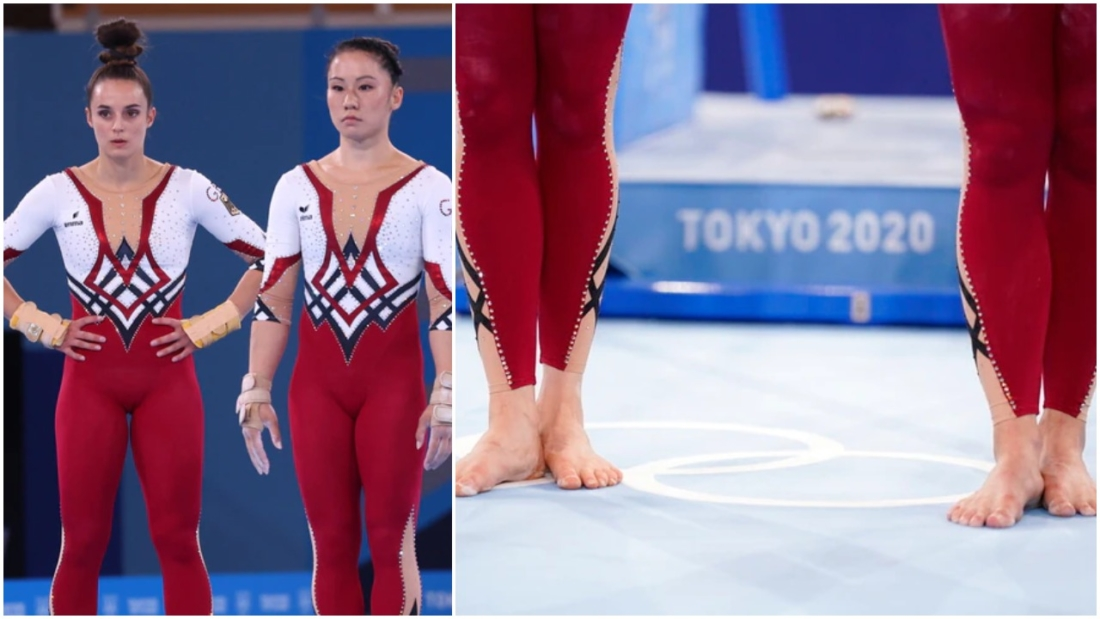 Gymnasts from Germany demonstrated their opposition to outfits that they feel abuse their sexuality by participating in Tokyo in unitards that covered their legs to the ankle.