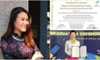 Nữ tiến sĩ Việt và Giải thưởng quốc tế 'Bài báo khoa học được nhiều người quan tâm nhất năm 2021'