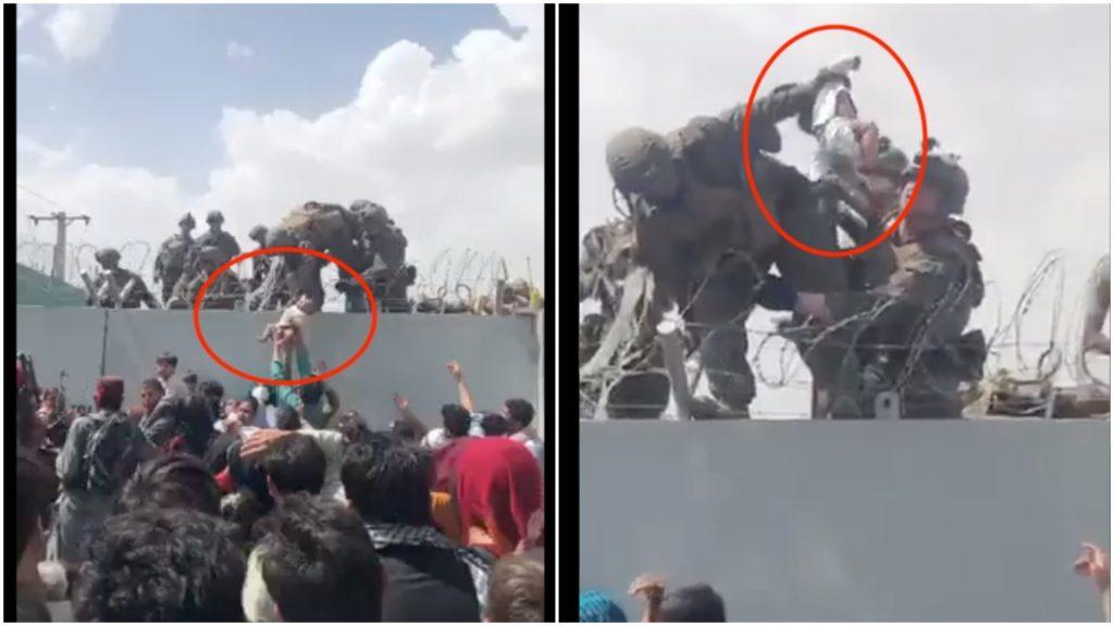 Em bé trong video 'người mẹ tuyệt vọng ném con qua hàng rào thép gai ở sân bay Kabul' đã đoàn tụ với cha mẹ