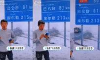Dị tượng Trung Quốc: Tân Cương xuất hiện tuyết rơi dày đặc tháng 7