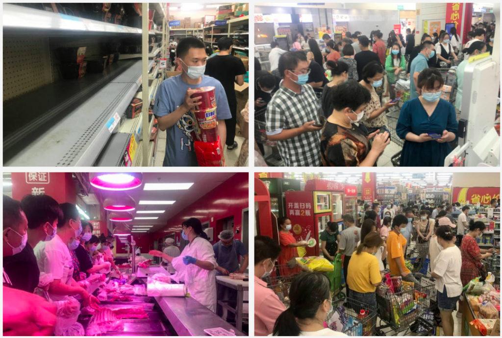 Dân Vũ Hán đổ đi mua thực phẩm khi thành phố bị phong tỏa một phần