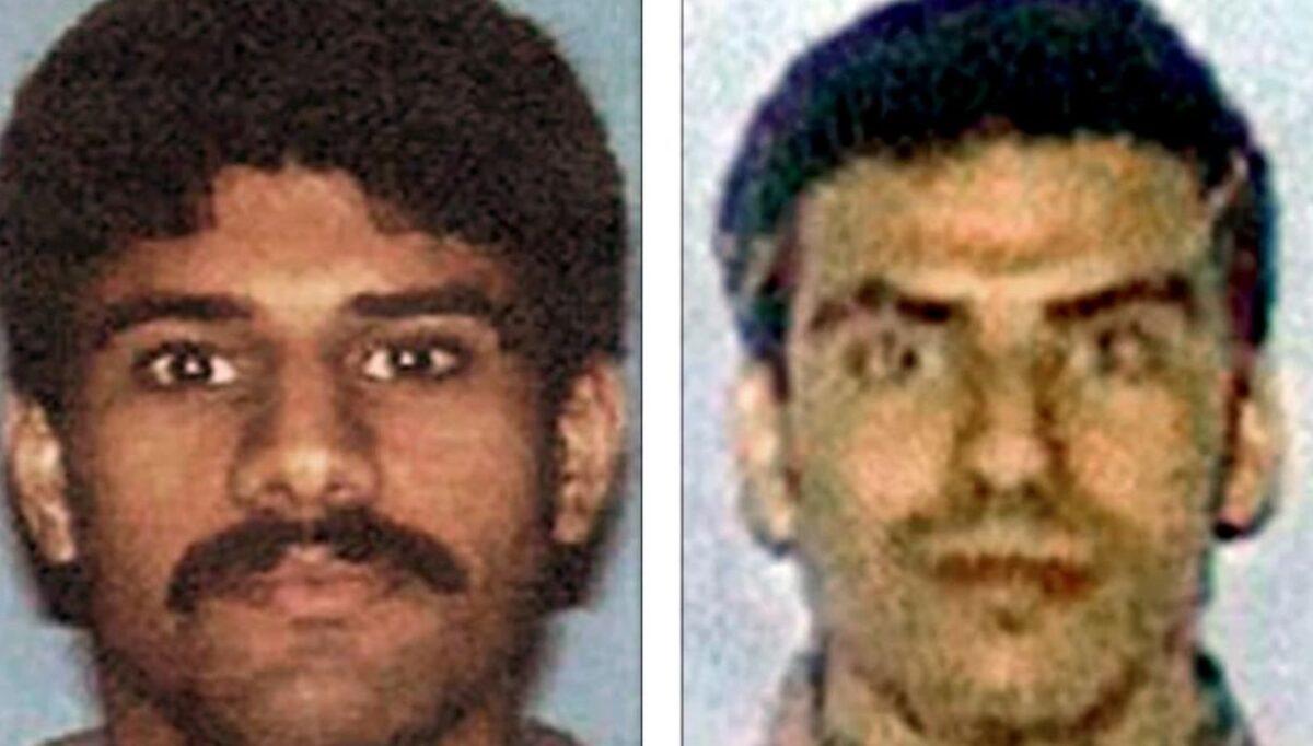 Các bức ảnh do FBI công bố về những tên không tặc ngày 11/9 Nawaf al-Hazmi (trái) và Khalid al-Mihdhar (phải), những người sống ở San Diego một năm trước vụ tấn công. (FBI)