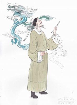 Trương Tăng Diêu đã theo thỉnh cầu của trụ trì chùa An Lạc ở Kim Lăng, mà vẽ bốn con rồng lên tường của ngôi chùa