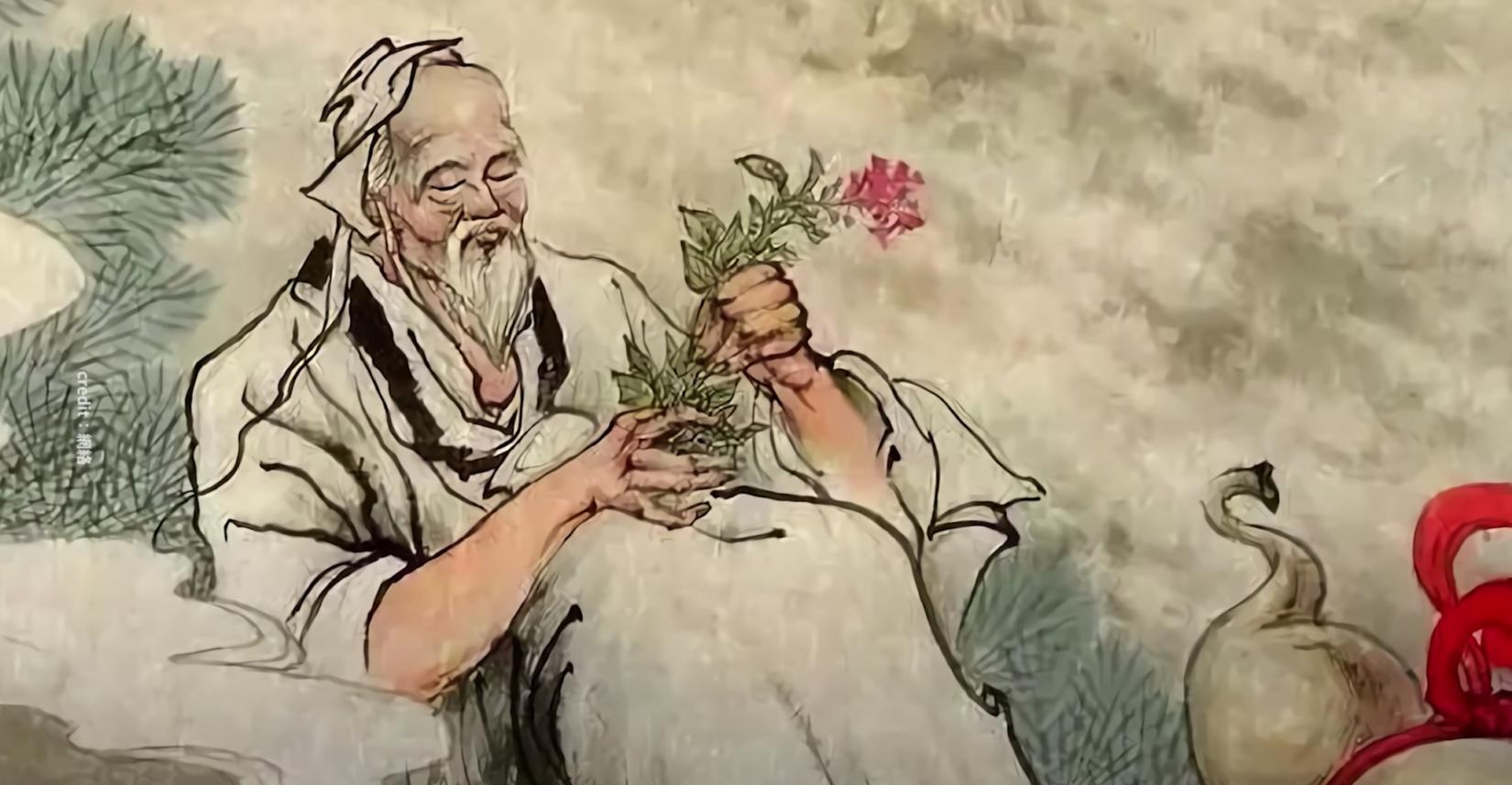 Tôn Tư Mạc là một Thần y danh tiếng vào thời nhà Đường và cũng là một bậc cao nhân tu Đạo (Ảnh chụp màn hình video)