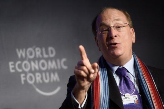 Chủ tịch và Giám đốc điều hành của BlackRock Laurence D. Fink tham dự một phiên họp tại cuộc họp thường niên của Diễn đàn Kinh tế Thế giới (WEF) ở Davos, hôm 23/01/2020. (Ảnh: Fabrice Coffrini / AFP via Getty Images)