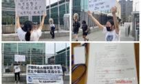 Du học sinh Trung Quốc thỉnh nguyện trước trụ sở Liên Hợp Quốc, tố cáo cảnh sát Bắc Kinh xâm hại tình dục