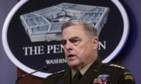 Tướng Milley: Các cuộc gọi của ông với tướng Trung Quốc là 'hoàn toàn' nằm trong phạm vi công việc