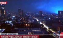 Ánh sáng xanh xuất hiện sau trận động đất 7 độ richter, dân Mexico lo sợ tận thế