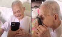 Xúc động trước cảnh mẹ già 105 tuổi gọi điện cho con gái: 'Về với Má, Má nhớ con!'