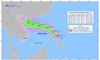 Bão Conson vào Biển Đông tăng lên cấp 9-10, dự báo hướng vào Vịnh Bắc Bộ