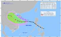 Bão số 5 (bão conson) tiến về phía đất liền Việt Nam và có khả năng mạnh thêm