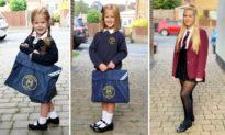 Mẹ tự hào chụp những bức ảnh con gái 'ngày đầu tiên đi học' trong hơn 10 năm