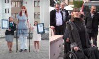 Cô gái 24 tuổi ghi tên vào sách kỷ lục Guinness vì là 'Người phụ nữ còn sống cao nhất thế giới'.