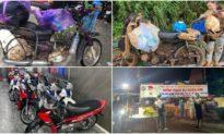 Doanh nhân Sài Gòn mua 15 chiếc xe máy mới tặng bà con nghèo vượt đèo Hải Vân về quê